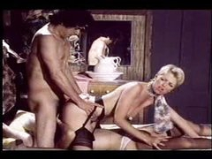Great retro hardcore threesome scene