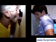 Perverted homosexuals into blowjob act
