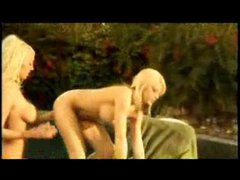 Mary Carey Drilled At The Pool Lesbians