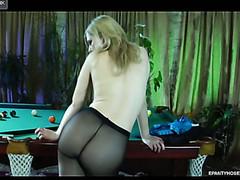 Ninette in pantyhose movie scene