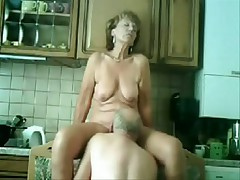 My mommy and dad fucking in our kitchen !!!