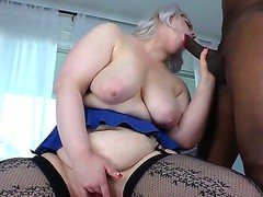 Amazing interracial scene with white busty golden-haired Klaudia Kelly and Sean Michaels