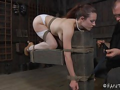 hawt body slut tied and dildo fucked