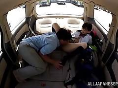 petite schoolgirl exploited in the car