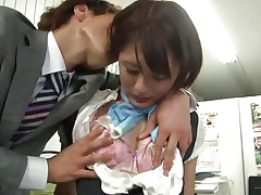 japanese girl is about to be fucked at the office