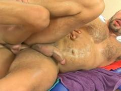 Wild gay spooning
