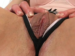 Brunette yummy woman is lucky to have so marvelous soaked crack