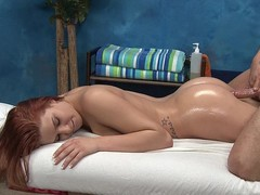 Redhead cutie Abby gets screwed from behind