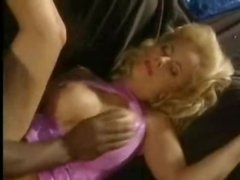 Black cock fucking her in classic scene