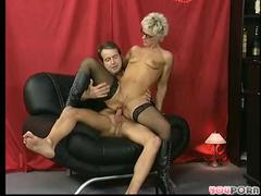 Shorthaired older takes it in both holes
