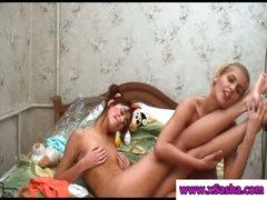 Lesbo teen cuties showing assets