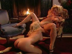 Amber Lynn with sexy young blonde